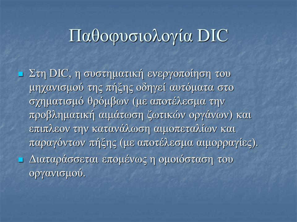 Παθοφυσιολογία DIC