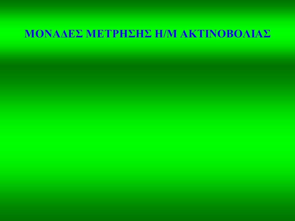 ΜΟΝΑΔΕΣ ΜΕΤΡΗΣΗΣ Η/Μ ΑΚΤΙΝΟΒΟΛΙΑΣ