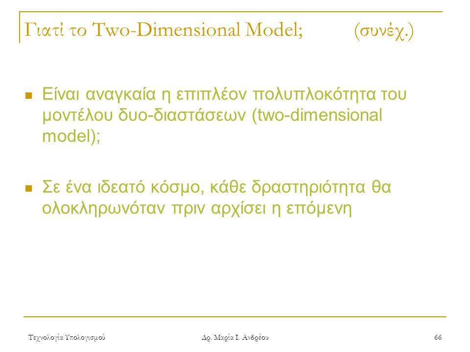Γιατί το Two-Dimensional Model; (συνέχ.)