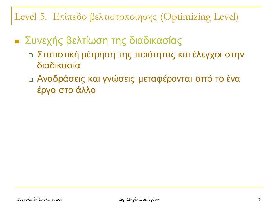 Level 5. Επίπεδο βελτιστοποίησης (Optimizing Level)