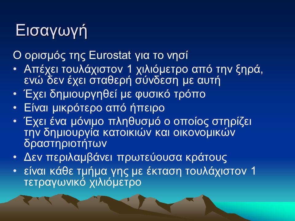 Εισαγωγή Ο ορισμός της Εurostat για το νησί
