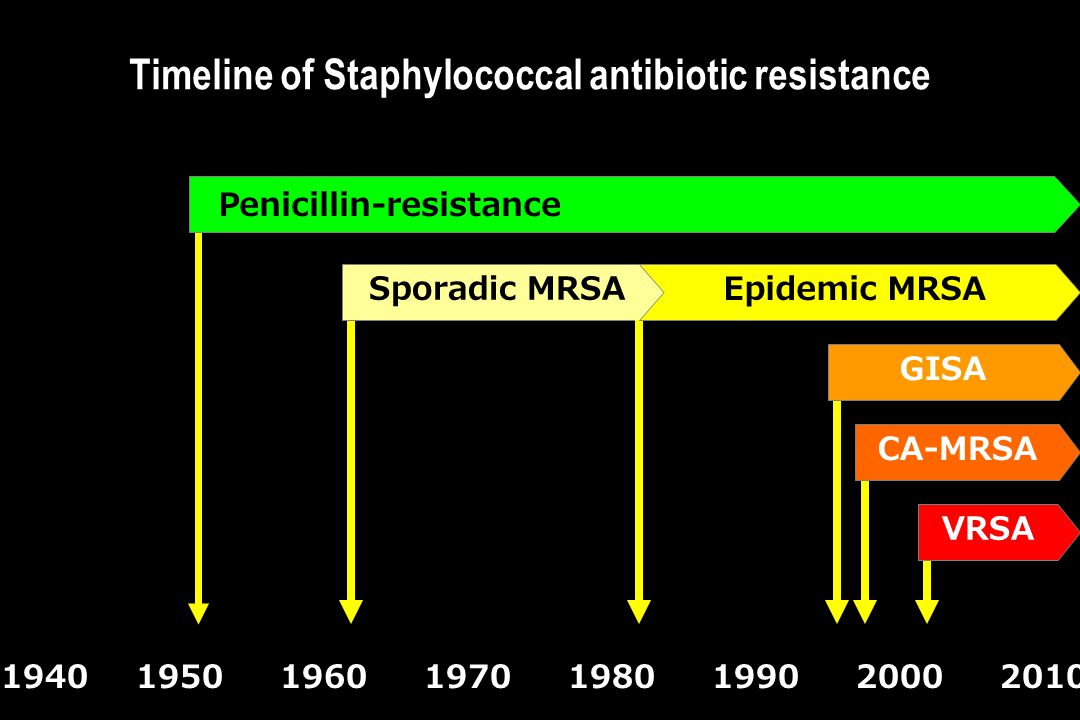 Timeline of Staphylococcal antibiotic resistance