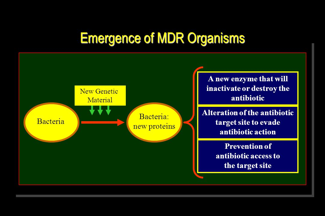 Emergence of MDR Organisms