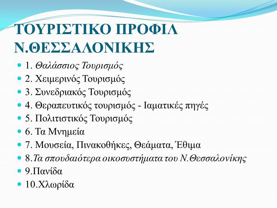 ΤΟΥΡΙΣΤΙΚΟ ΠΡΟΦΙΛ Ν.ΘΕΣΣΑΛΟΝΙΚΗΣ