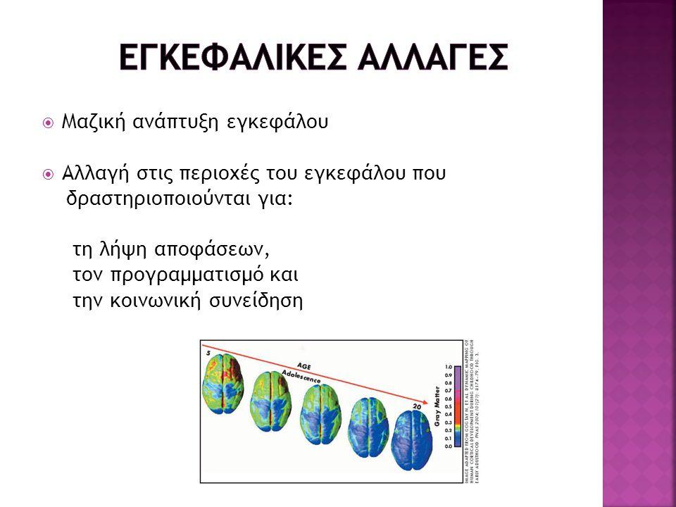 ΕΓΚΕΦΑΛΙΚΕΣ ΑΛΛΑΓΕΣ Μαζική ανάπτυξη εγκεφάλου