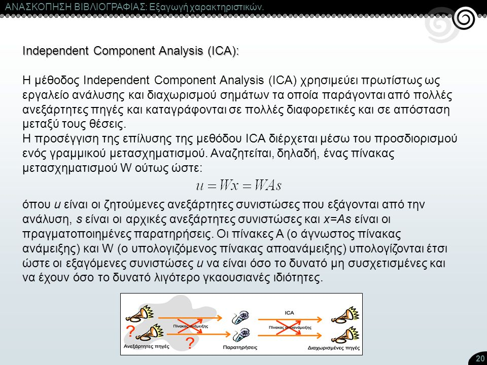 Independent Component Analysis (ICA):