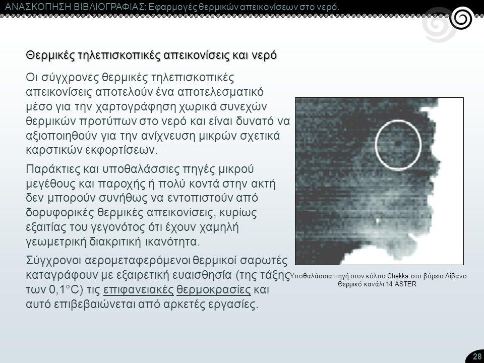 Θερμικές τηλεπισκοπικές απεικονίσεις και νερό