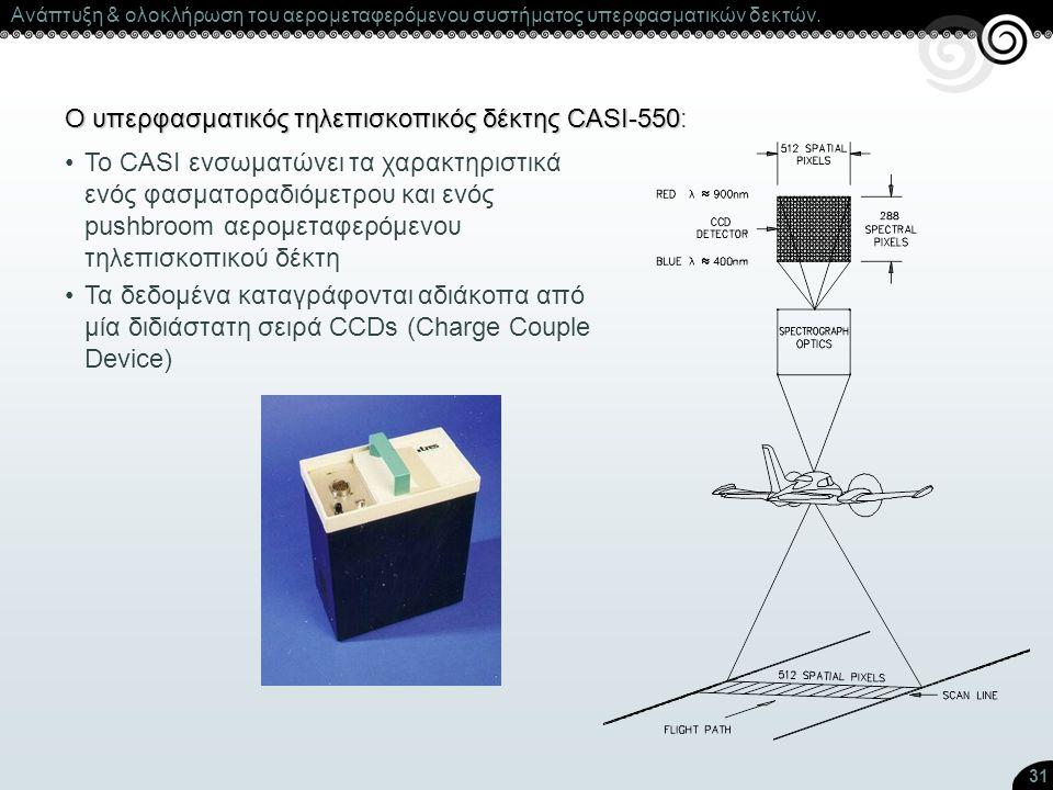 Ο υπερφασματικός τηλεπισκοπικός δέκτης CASI-550:
