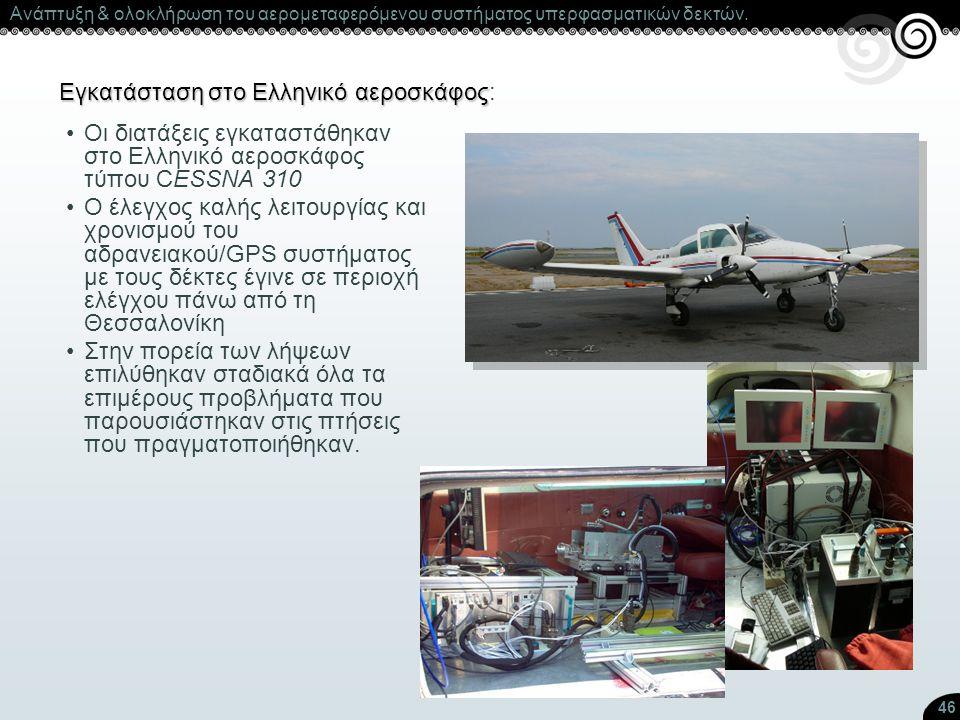 Εγκατάσταση στο Ελληνικό αεροσκάφος: