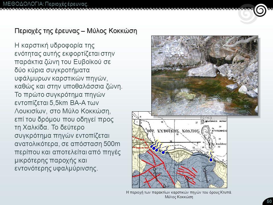 Η περιοχή των παρακτίων καρστικών πηγών του όρους Κτυπά.