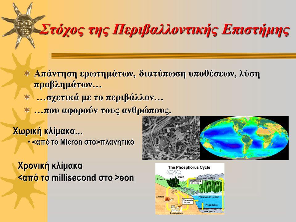 Στόχος της Περιβαλλοντικής Επιστήμης