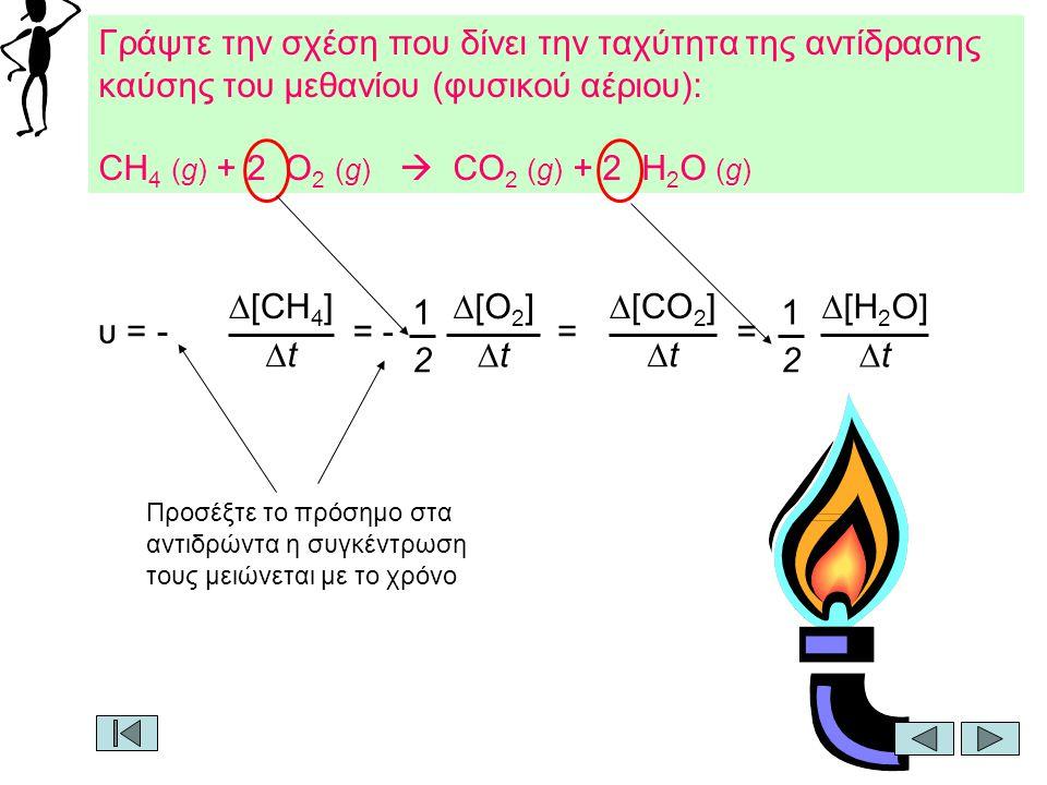 CH4 (g) + 2 O2 (g)  CO2 (g) + 2 H2O (g)