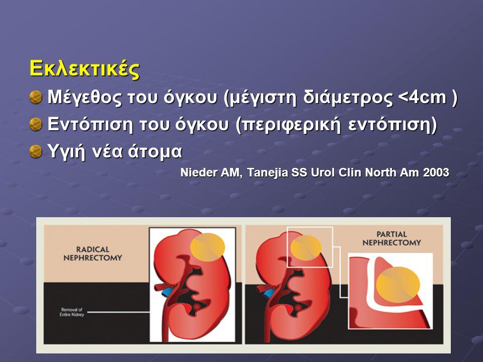 Εκλεκτικές Μέγεθος του όγκου (μέγιστη διάμετρος <4cm )