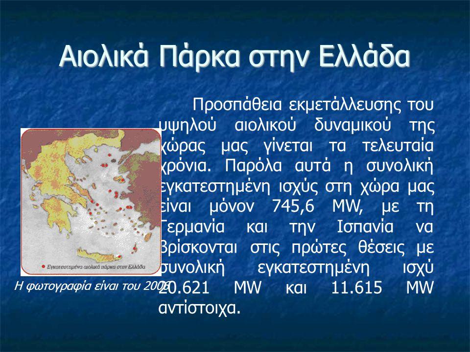 Αιολικά Πάρκα στην Ελλάδα
