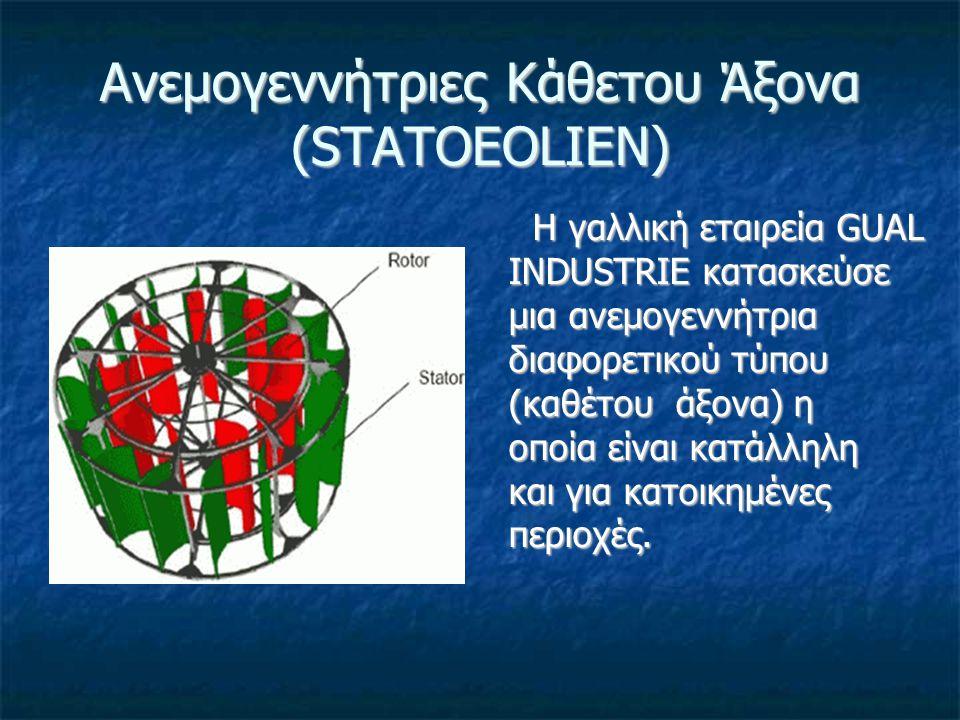 Ανεμογεννήτριες Κάθετου Άξονα (STATOEOLIEN)