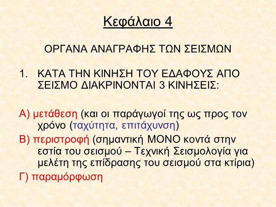 Κεφάλαιο 4 ΟΡΓΑΝΑ ΑΝΑΓΡΑΦΗΣ ΤΩΝ ΣΕΙΣΜΩΝ