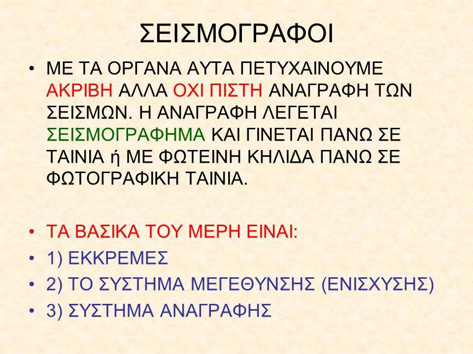 ΣΕΙΣΜΟΓΡΑΦΟΙ