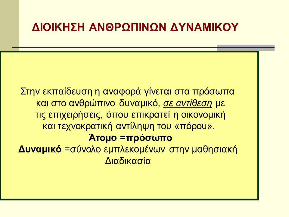 ΔΙΟΙΚΗΣΗ ΑΝΘΡΩΠΙΝΩΝ ΔΥΝΑΜΙΚΟΥ