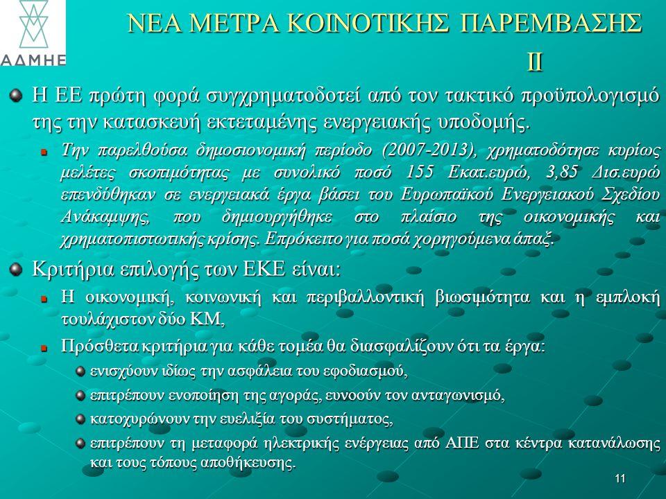 NΕΑ ΜΕΤΡΑ ΚΟΙΝΟΤΙΚΗΣ ΠΑΡΕΜΒΑΣΗΣ II