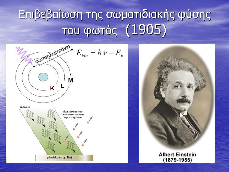 Επιβεβαίωση της σωματιδιακής φύσης του φωτός (1905)