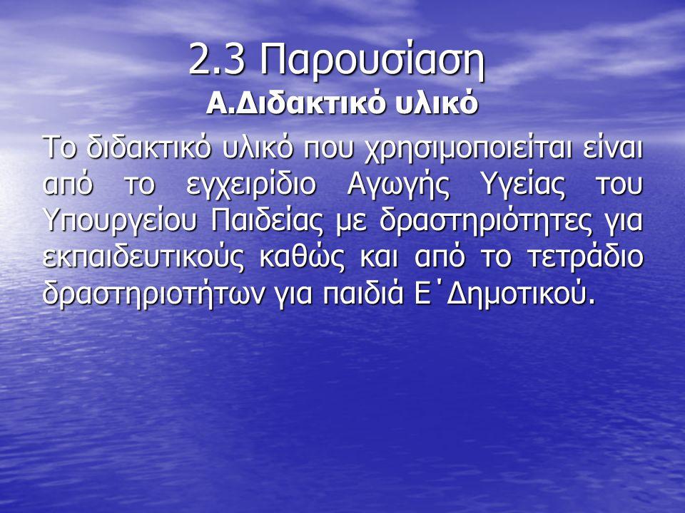 2.3 Παρουσίαση Α.Διδακτικό υλικό