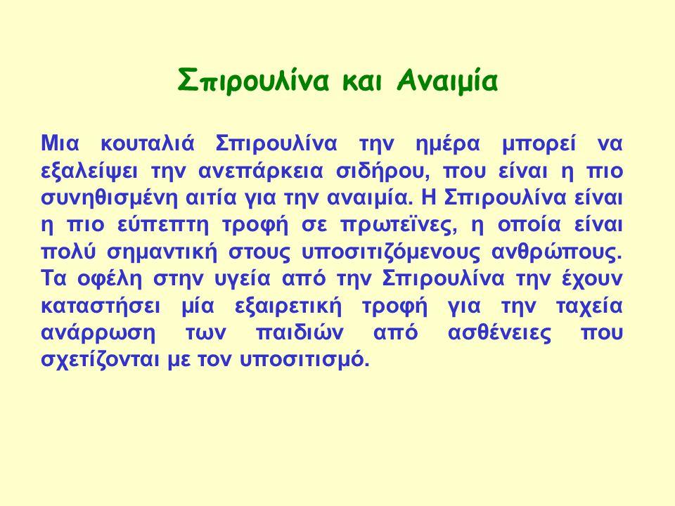Σπιρουλίνα και Αναιμία