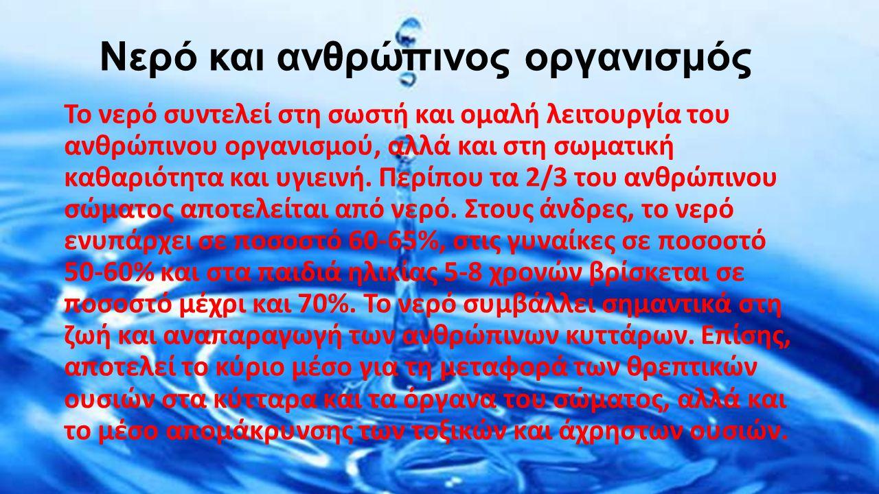 Νερό και ανθρώπινος οργανισμός