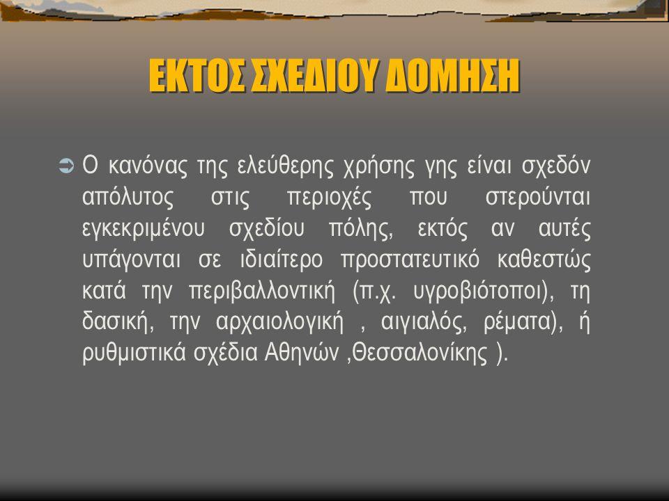 ΕΚΤΟΣ ΣΧΕΔΙΟΥ ΔΟΜΗΣΗ