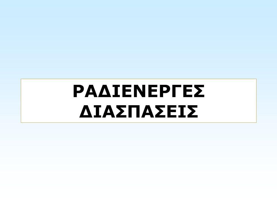 ΡΑΔΙΕΝΕΡΓΕΣ ΔΙΑΣΠΑΣΕΙΣ