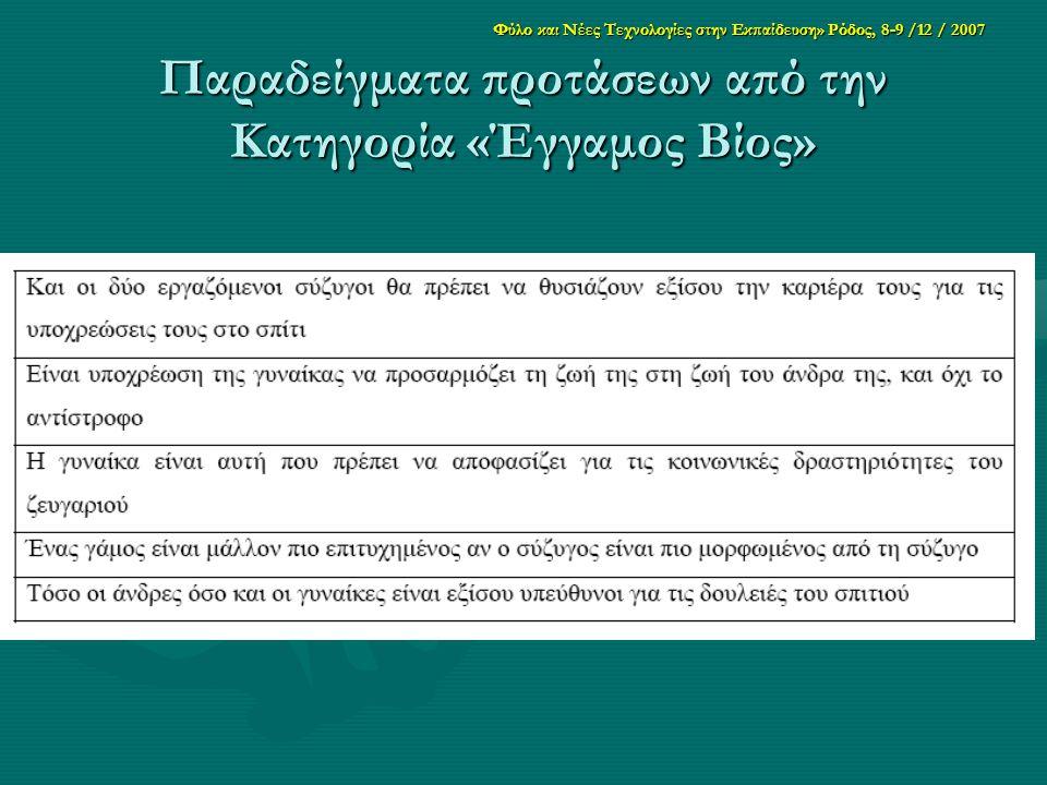 Παραδείγματα προτάσεων από την Κατηγορία «Έγγαμος Βίος»