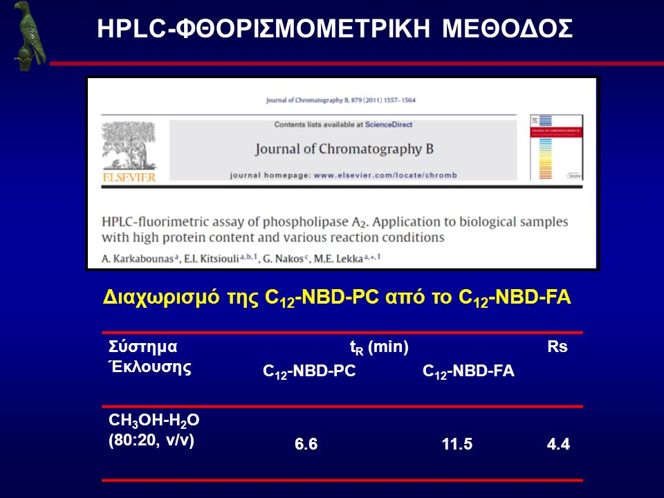 HPLC-ΦΘΟΡΙΣΜΟΜΕΤΡΙΚΗ ΜΕΘΟΔΟΣ