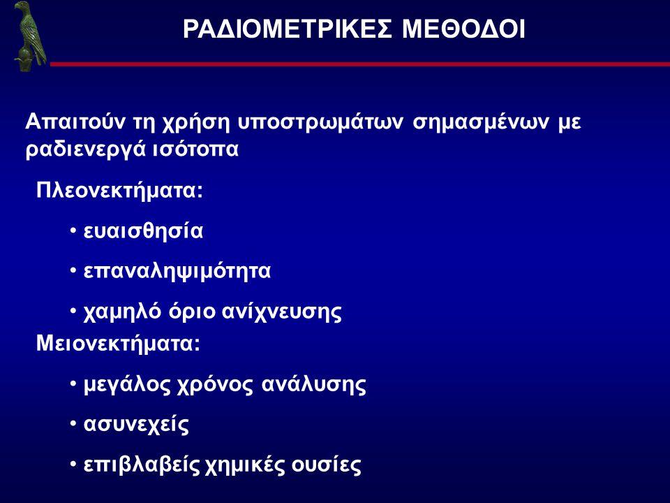 ΡΑΔΙΟΜΕΤΡΙΚΕΣ ΜΕΘΟΔΟΙ