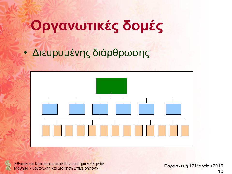 Οργανωτικές δομές Διευρυμένης διάρθρωσης