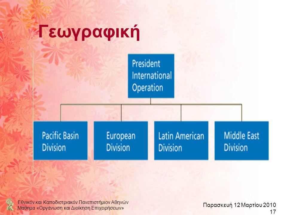 Γεωγραφική Εθνικόν και Καποδιστριακόν Πανεπιστήμιον Αθηνών
