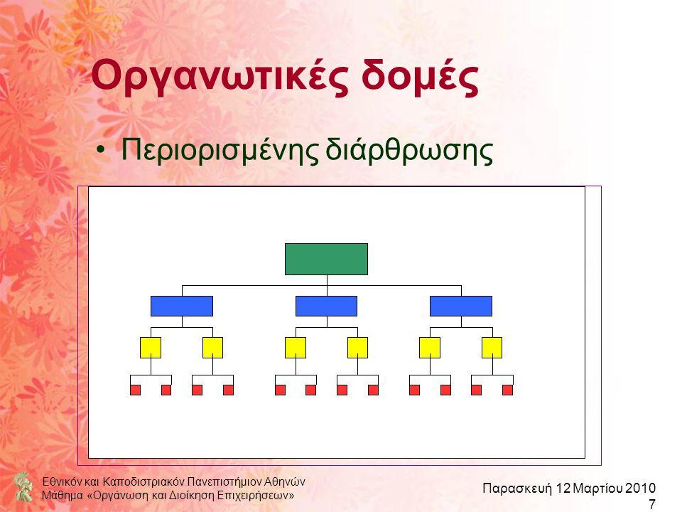 Οργανωτικές δομές Περιορισμένης διάρθρωσης
