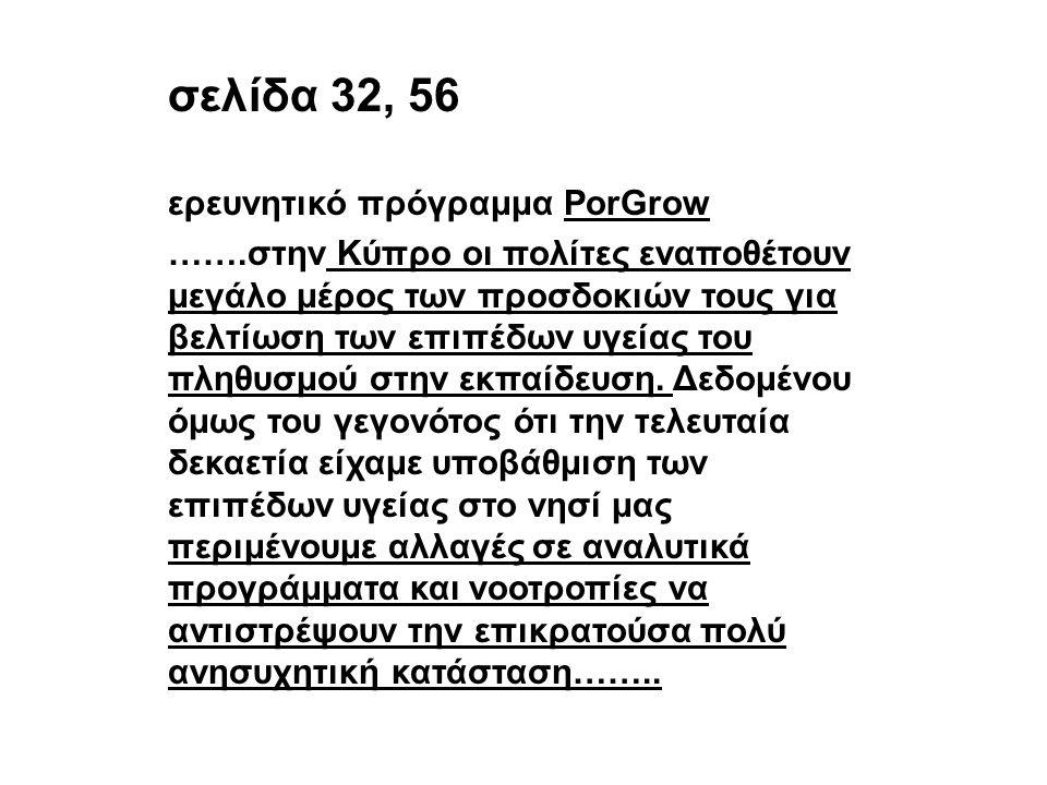 σελίδα 32, 56 ερευνητικό πρόγραμμα PorGrow