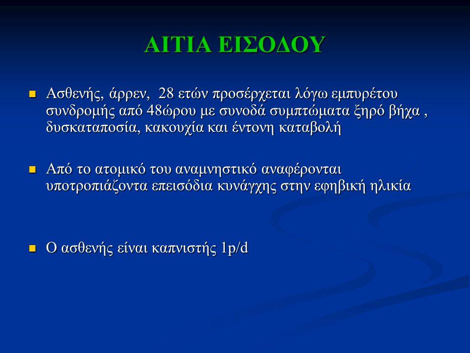 ΑΙΤΙΑ ΕΙΣΟΔΟΥ