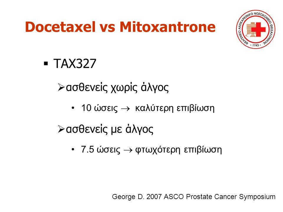 Docetaxel vs Mitoxantrone