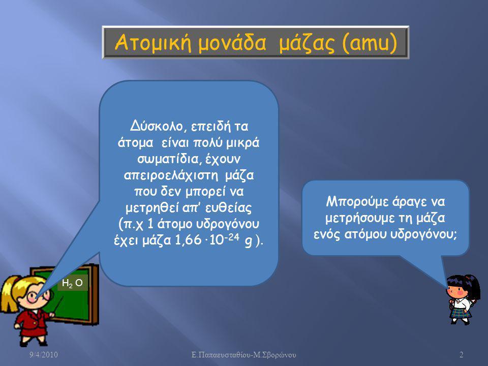 Ατομική μονάδα μάζας (amu)