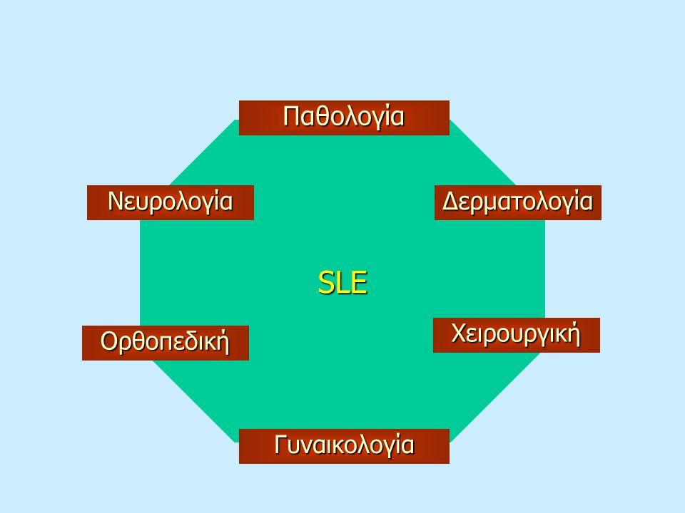 SLE Παθολογία Νευρολογία Δερματολογία Χειρουργική Ορθοπεδική