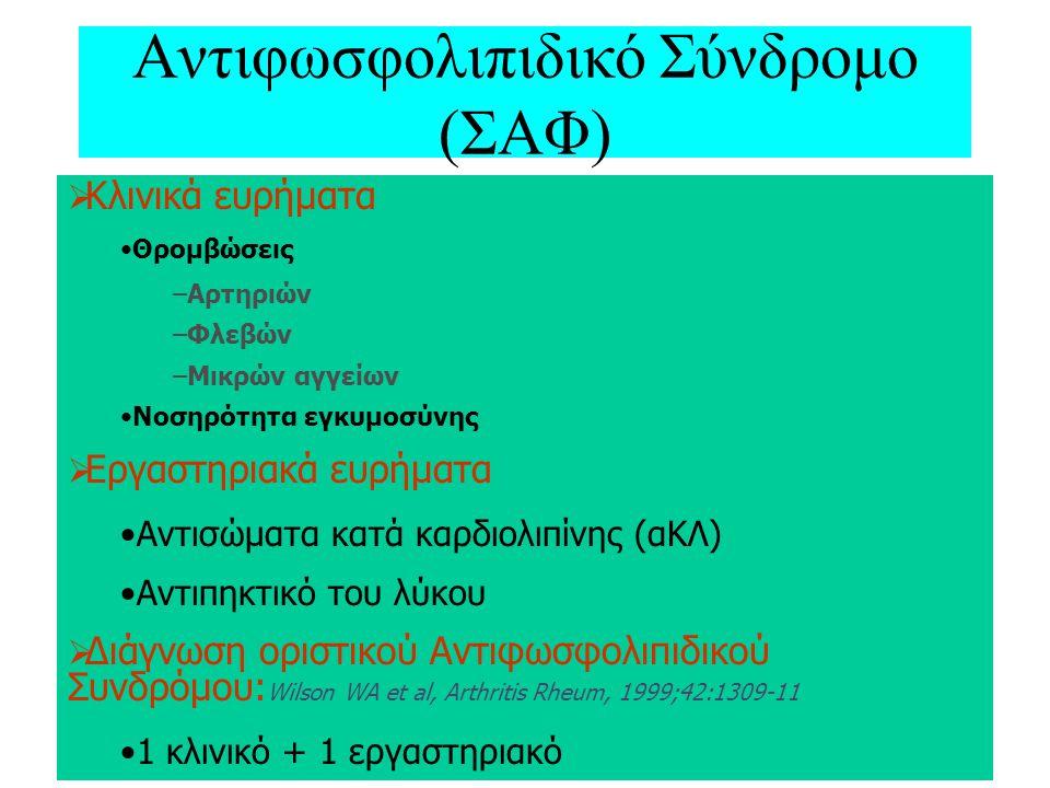 Αντιφωσφολιπιδικό Σύνδρομο (ΣΑΦ)