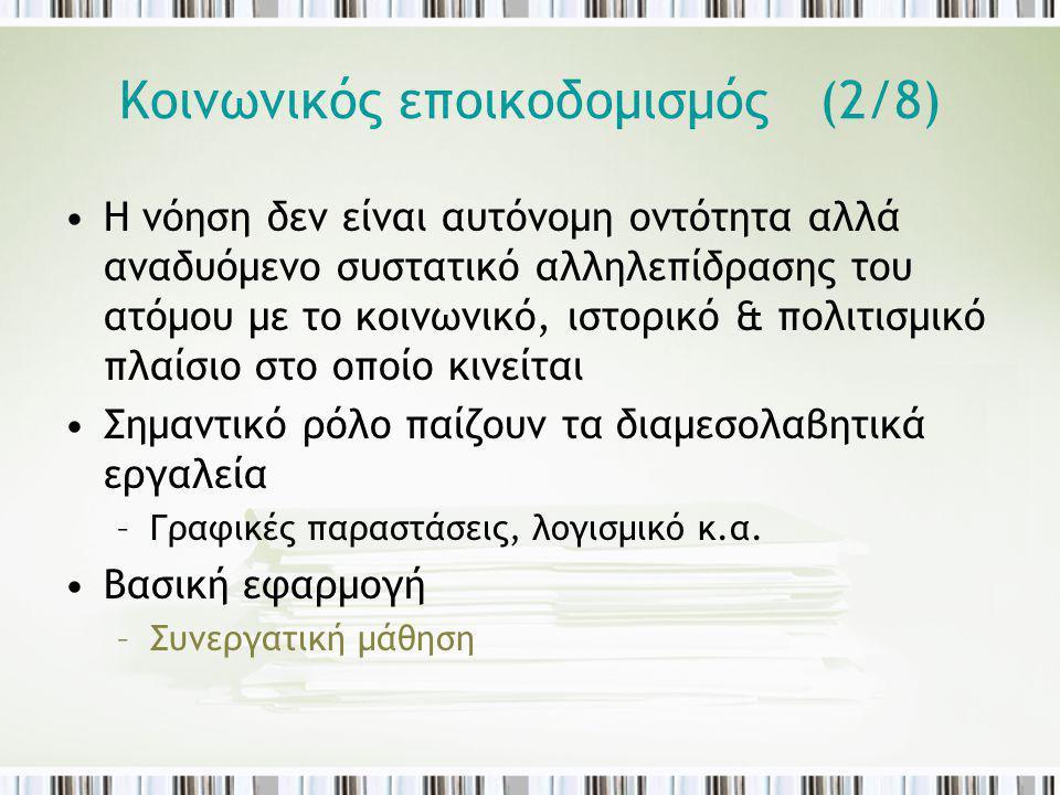 Κοινωνικός εποικοδομισμός (2/8)
