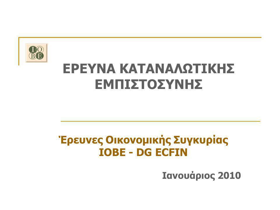ΕΡΕΥΝΑ ΚΑΤΑΝΑΛΩΤΙΚΗΣ ΕΜΠΙΣΤΟΣΥΝΗΣ