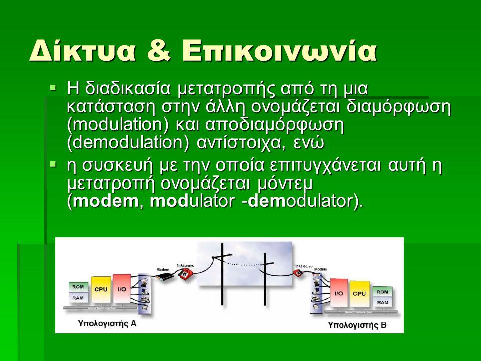 Δίκτυα & Επικοινωνία
