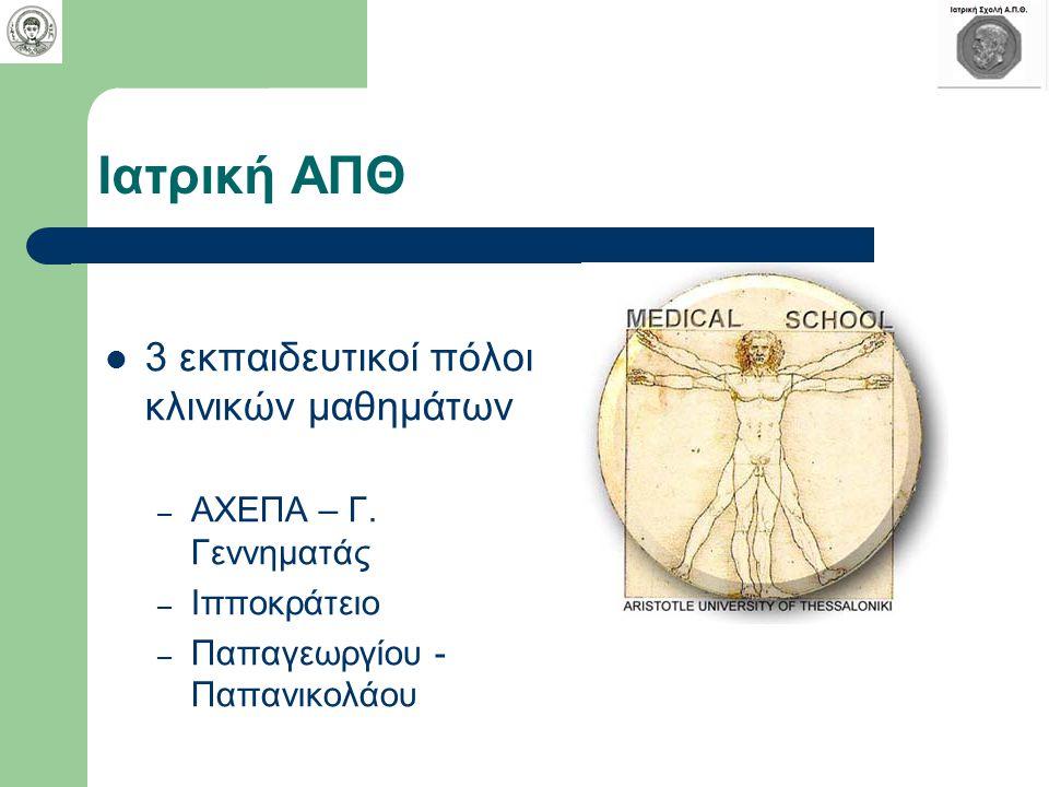 Ιατρική ΑΠΘ 3 εκπαιδευτικοί πόλοι κλινικών μαθημάτων