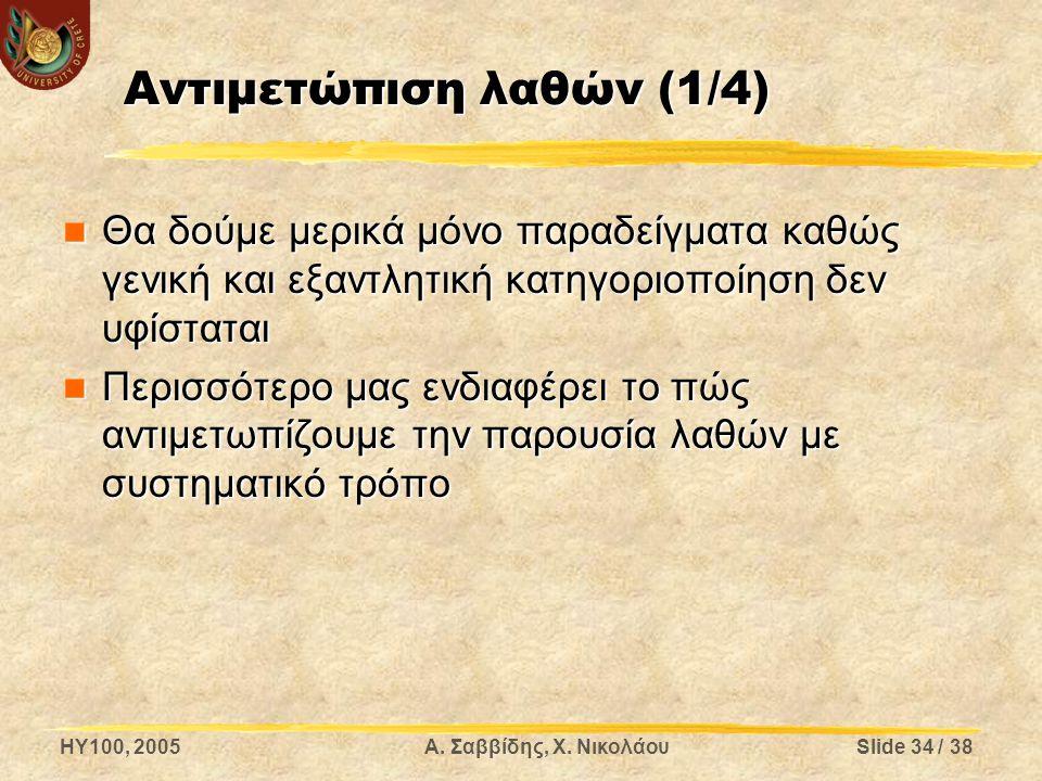 Αντιμετώπιση λαθών (1/4)
