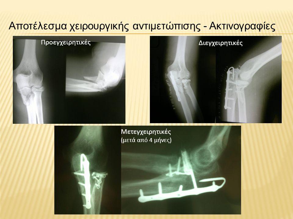 Αποτέλεσμα χειρουργικής αντιμετώπισης - Ακτινογραφίες