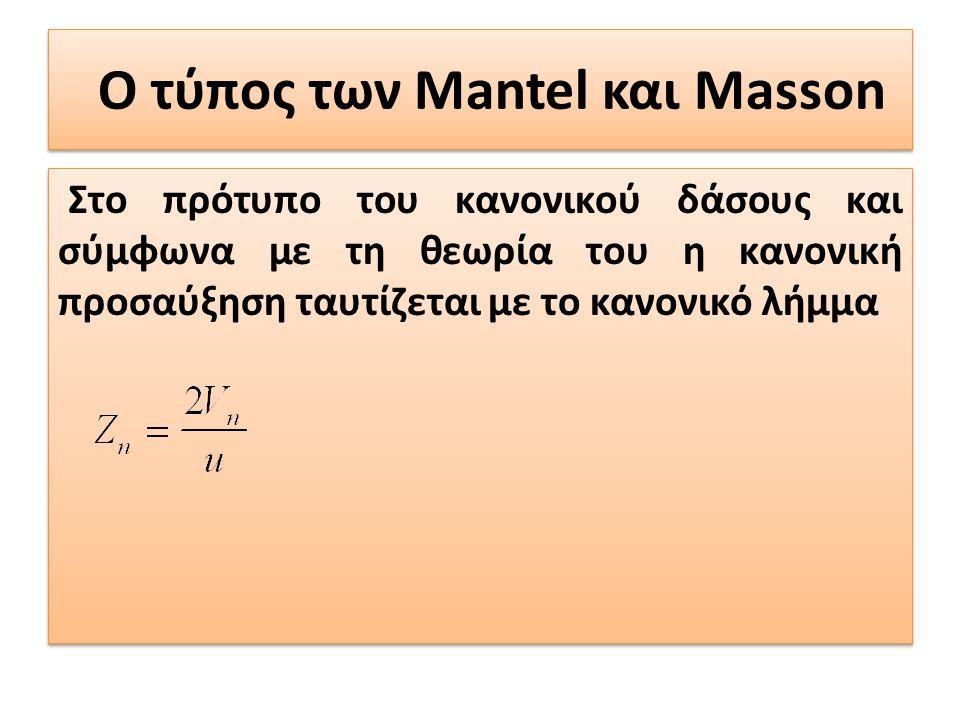 Ο τύπος των Mantel και Masson