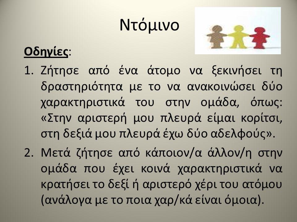 Ντόμινο Οδηγίες: