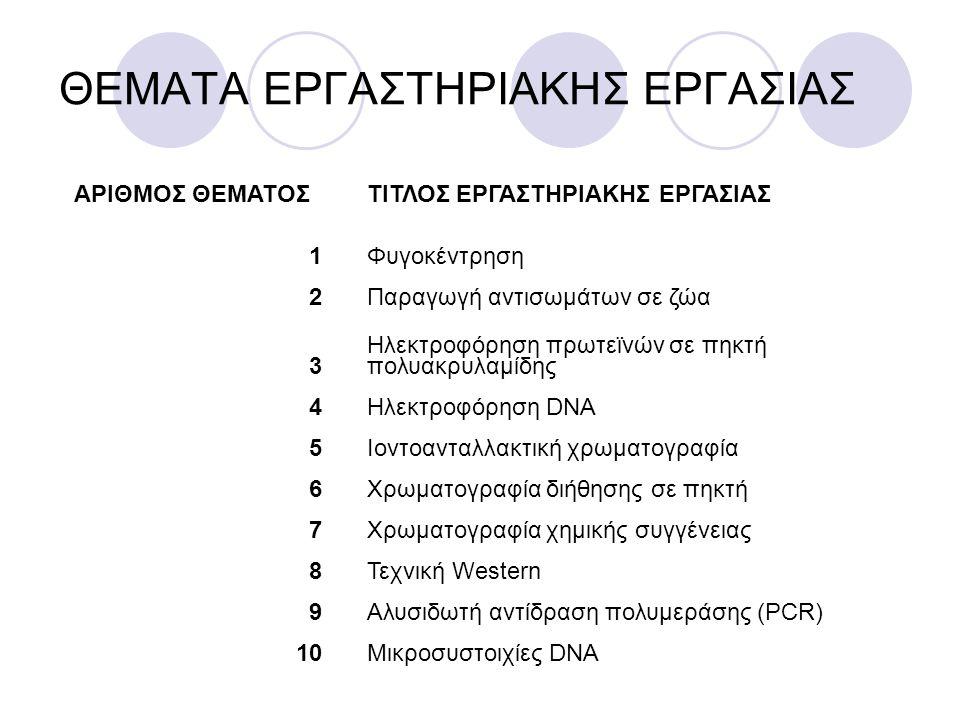 ΘΕΜΑΤΑ ΕΡΓΑΣΤΗΡΙΑΚΗΣ ΕΡΓΑΣΙΑΣ